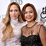 Jennifer Lopez's White Sequin Outfit by Sally LaPointe 2018