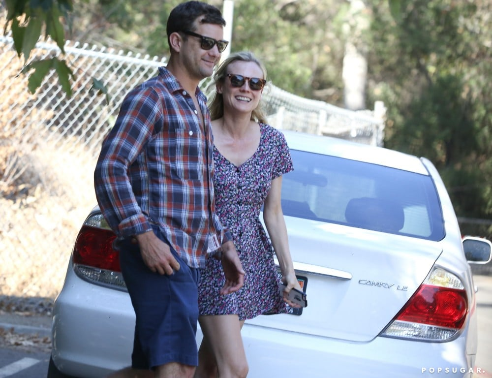 Joshua Jackson and Diane Kruger were all smiles for an LA outing together.