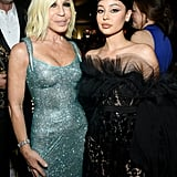 Donatella Versace and Alexa Demie at the Elton John AIDS Foundation Oscars Party