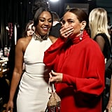 Pictured: Tiffany Haddish and Maya Rudolph