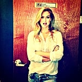 Bar Refaeli struck a pretty pose before appearing on Conan.  Source: Instagram user iambarrefaeli