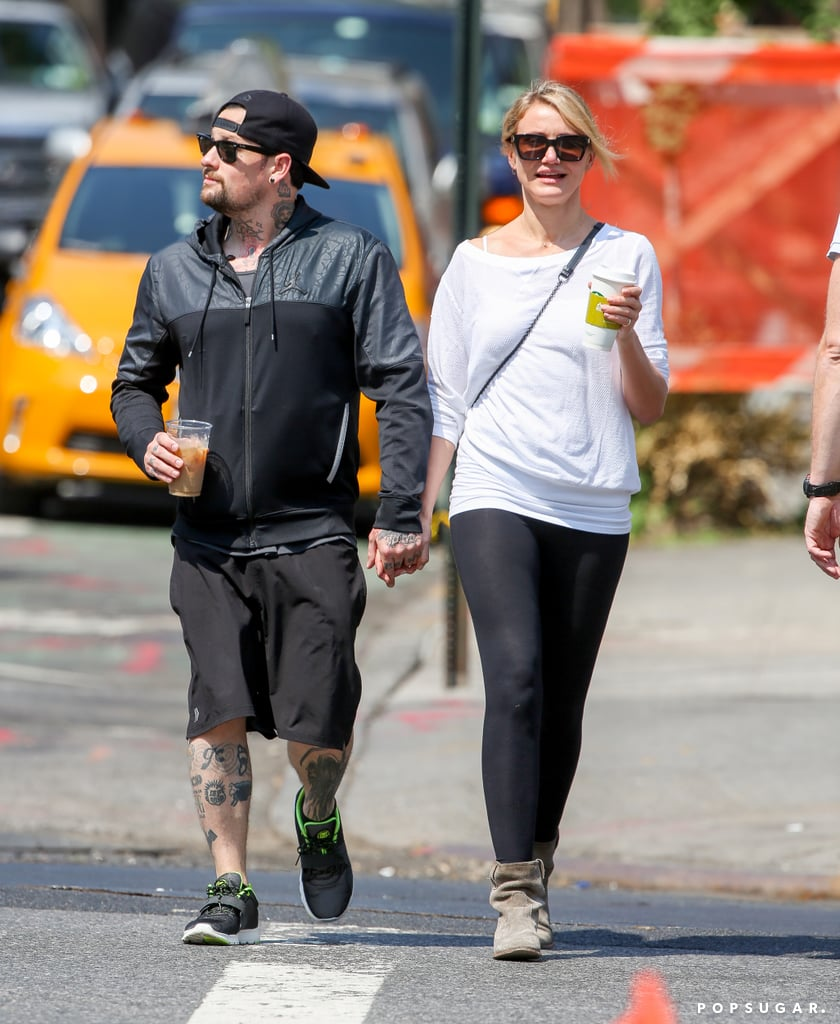 Cameron Diaz and Benji Madden held hands in NYC.