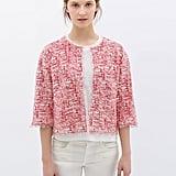 Zara red tweed bracelet-sleeve jacket ($60)