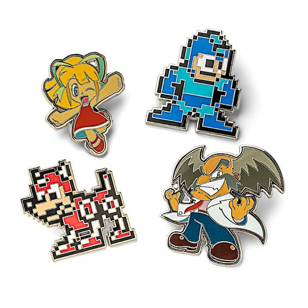 Megaman Characters Pin Set