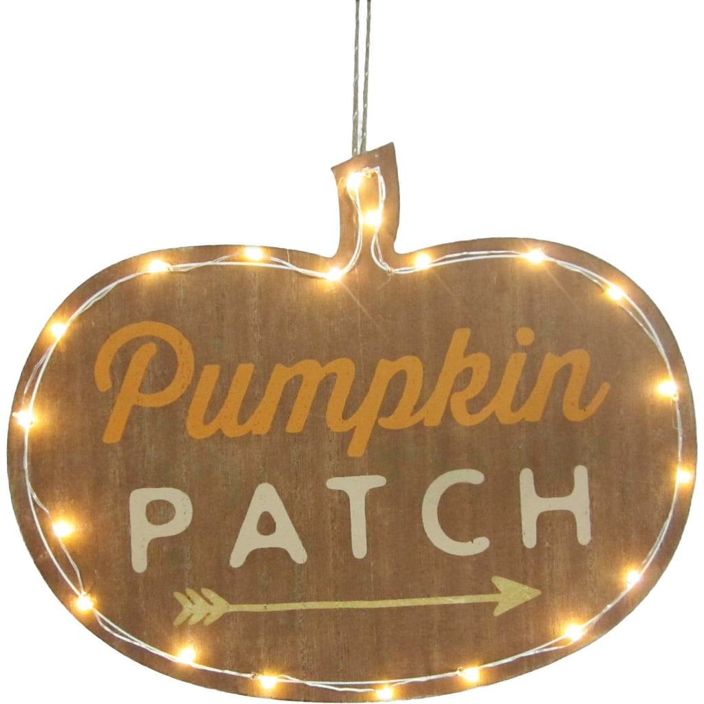 Hyde and Eek! Boutique Halloween Pumpkin Patch Lit Hanging Sign