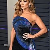 Jennifer Lopez's Side-Swept Waves in 2019