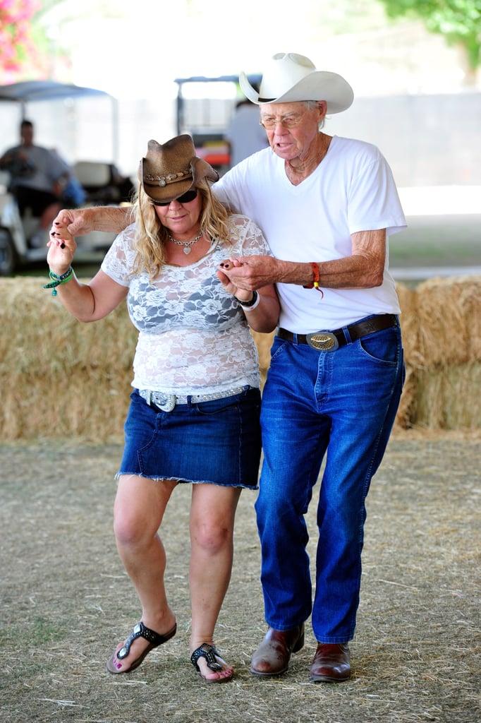 A cute older pair danced at Stagecoach.