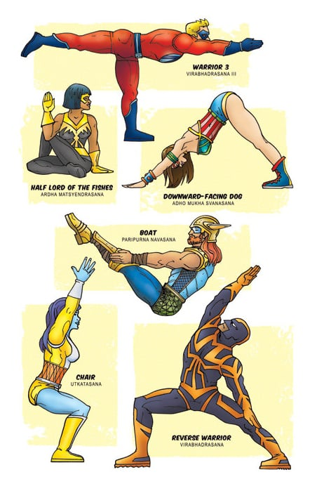 Superhero Yoga Art Print ($20)