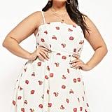 Plus-Size Strawberry Cami Mini Dress