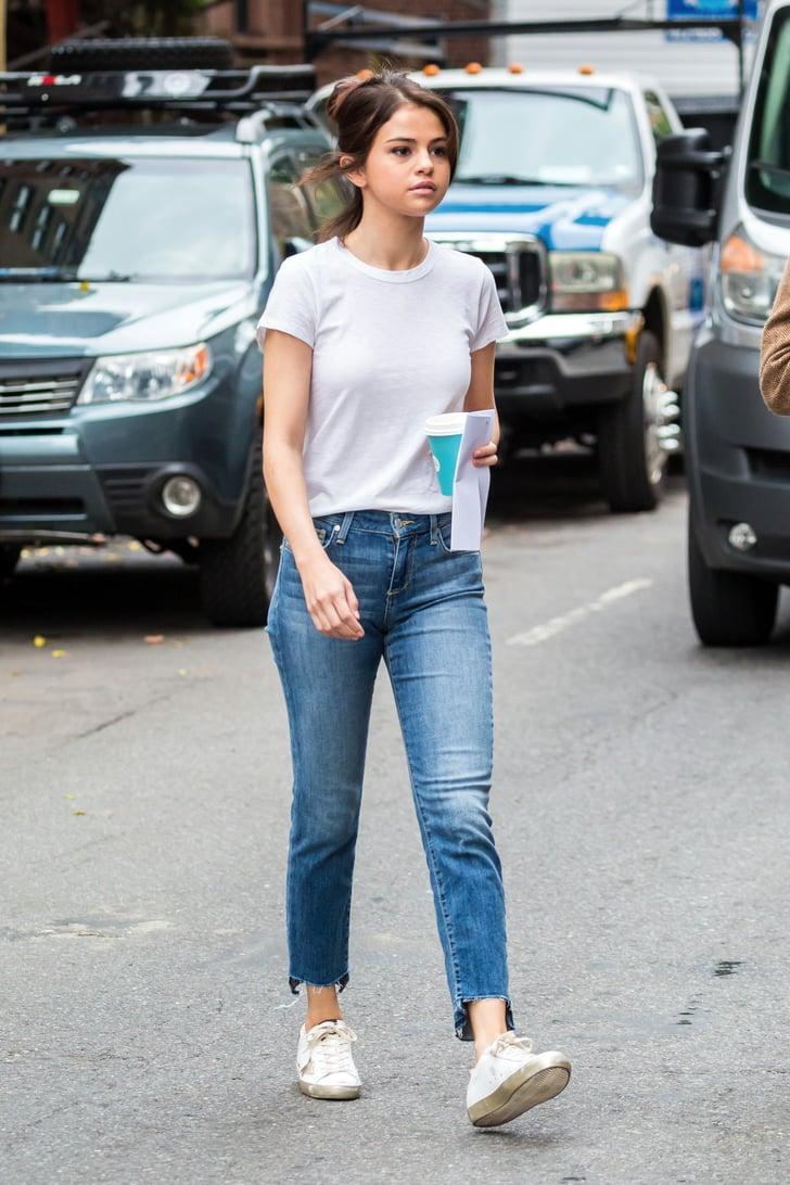 Selena Gomez White Golden Goose