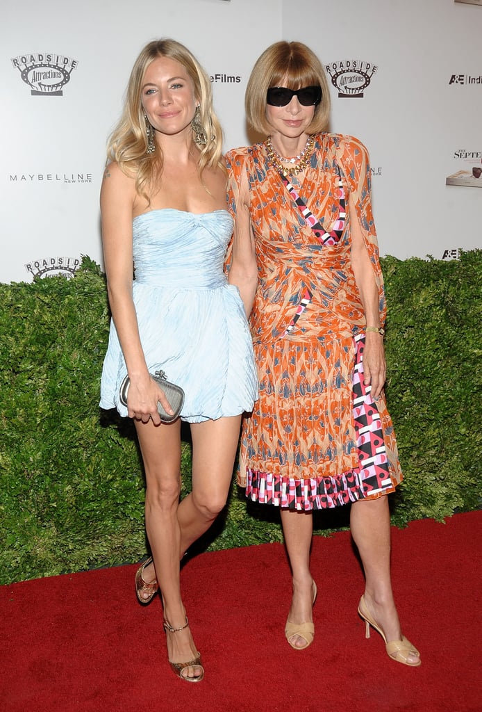 Sienna was in good company with Anna Wintour at the 2009 premiere of The September Issue.