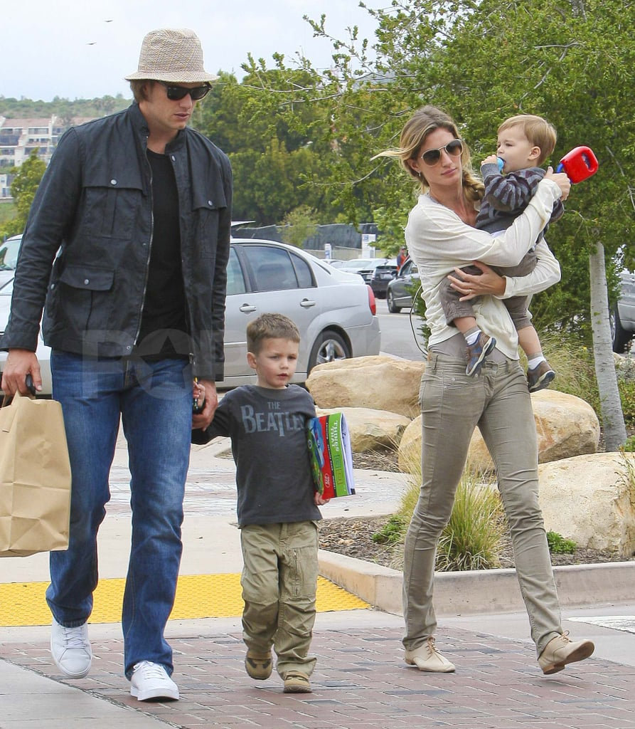 Tom Brady and Gisele Bundchen took their boys Benjamin and Jack out in Malibu yesterday. The foursome celebrated Father's Day with lunch at local hot spot Taverna Tony. Gisele gets to spend lots of time with her son Ben and stepson Jack, including a recent picture-perfect park date. Gisele and Tom were back to family time following a week of work. Gisele hit the gym and ran errands solo while Tom Brady modeled for UGG Australia in a playful shoot on Thursday. He was spotted filming a commercial for the brand in Pasadena and had his canine companion, Lua, with him on set. Tom has time for his spokesmodel duties since he's still awaiting a decision on the NFL lockout, which is apparently getting closer to a verdict.