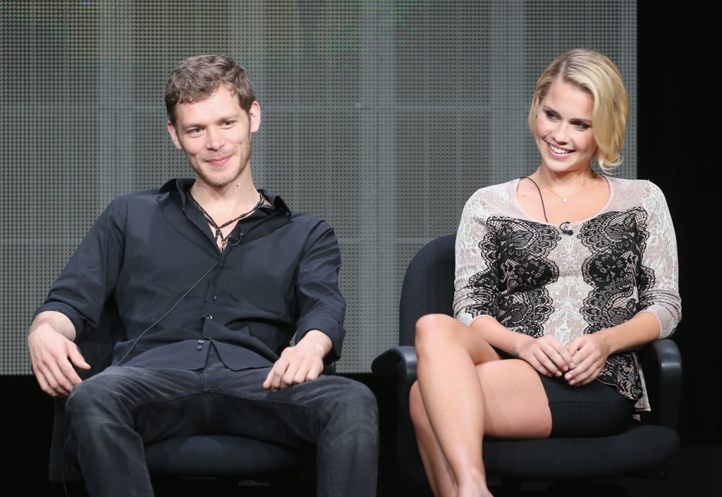 Joseph Morgan and Claire Holt sat together on a panel for The Originals.