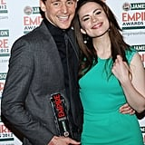Tom Hiddleston and Haley Atwell at the Jameson Empire Awards in London.