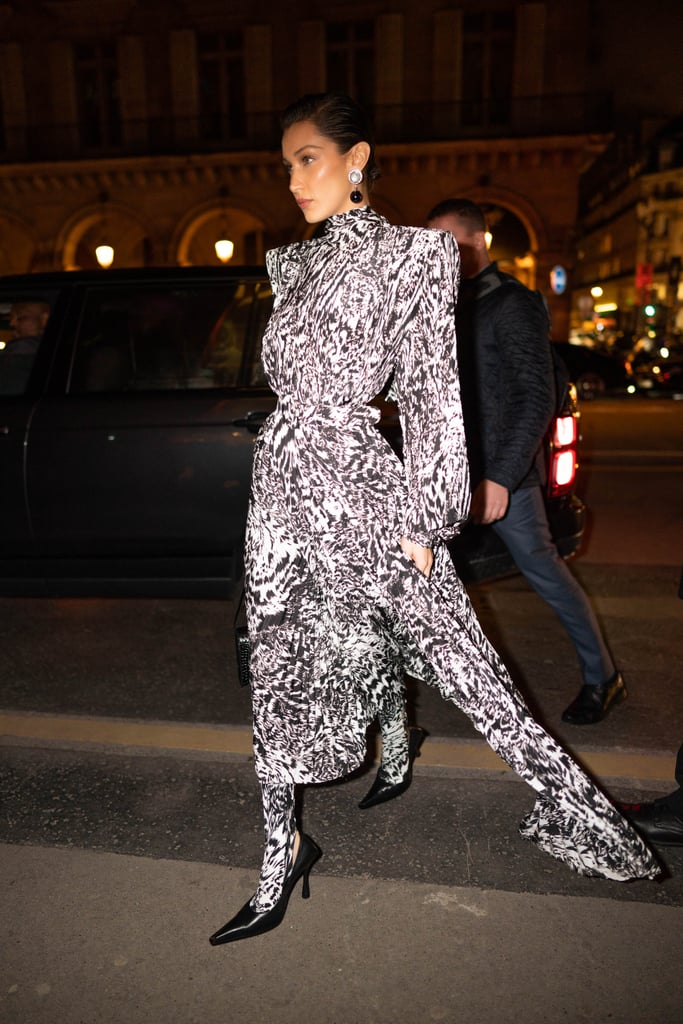 Bella Hadid at the Harper's Bazaar Exhibition During Paris Fashion Week 2020