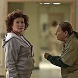Red (Kate Mulgrew) and Frieda (Dale Soules) look like they're up to something.