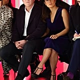 Salma Hayek sat in the front row at the Christopher Kane fashion show on Monday with François-Henri Pinault.