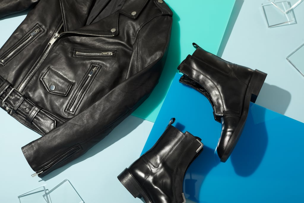 The quintessential leather jacket + cool leather boots for the rock fan