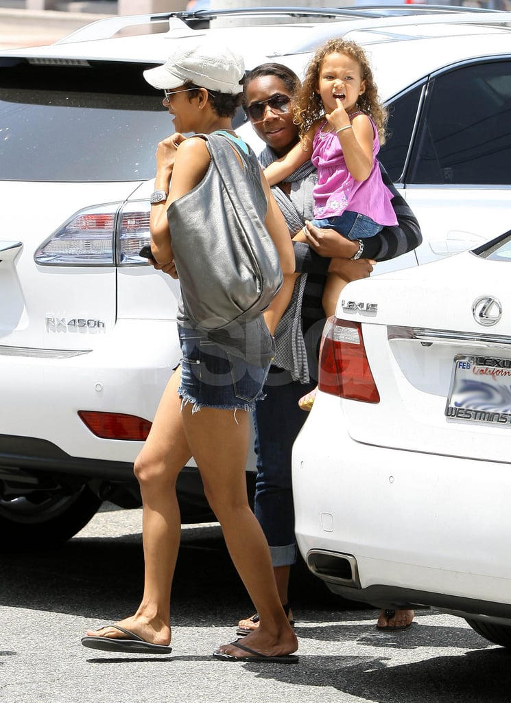 Halle Berry and daughter Nahla Aubry at lunch