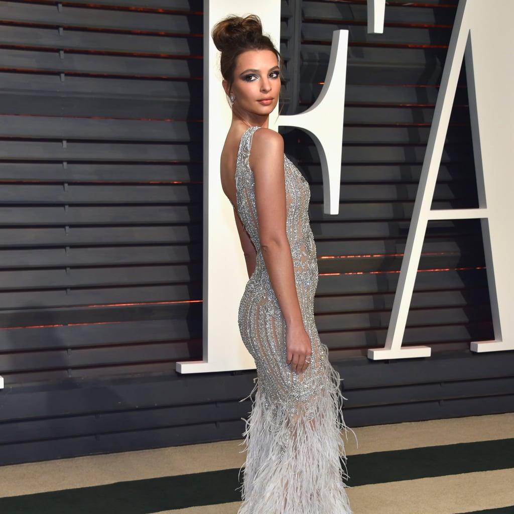 Emily Ratajkowski's Dress at Oscars Afterparty 2017