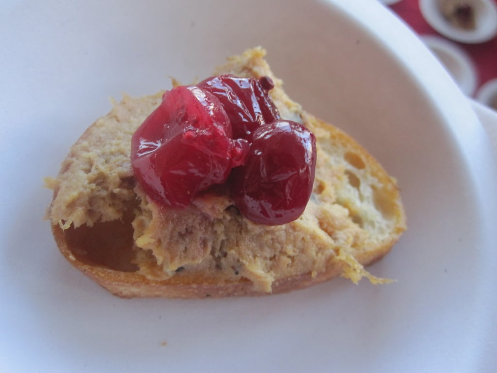 The cranberry folks wowed me with another stunning cranberry preparation in the form of chicken rillettes topped with pickled cranberries. Delish!