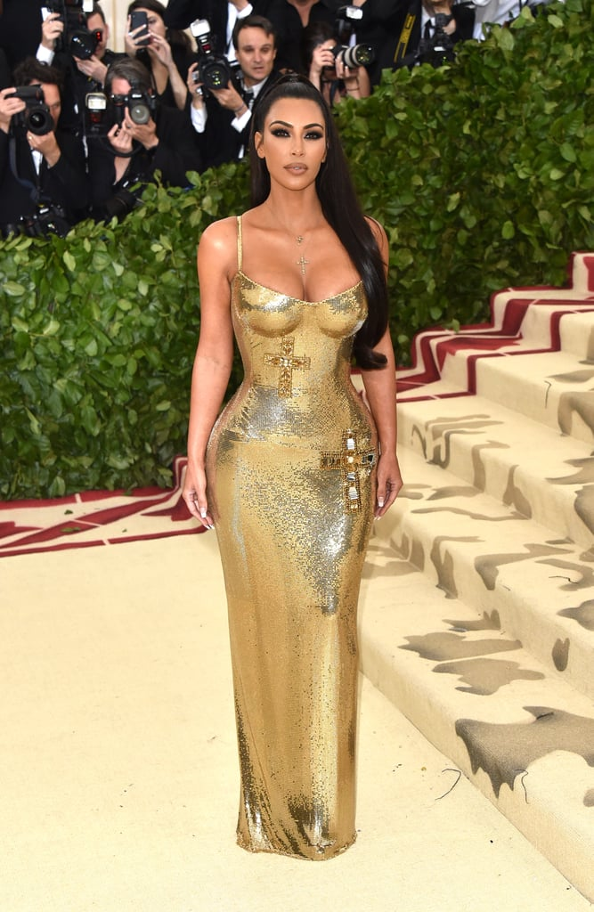 Kim Kardashian Versace Dress at the 2018 Met Gala | POPSUGAR Fashion