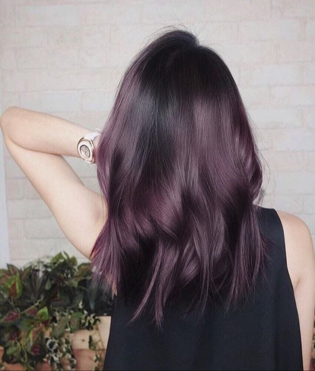 Eggplant Hair Color Trend Popsugar Beauty