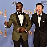 """When Brad and Angelina see our next two presenters, they're going to want to adopt them. Welcome Ken Jeong and Kevin Hart."" — Commenting on the presenters' heights."