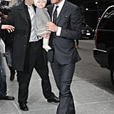 David and Harper Beckham went to mom Victoria's show.