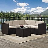 Espresso All Weather Outdoor Sectional and Sand Cushions