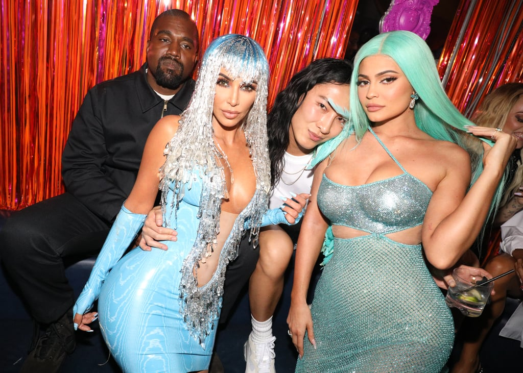 Kanye West, Kim Kardashian, Alexander Wang, and Kylie Jenner