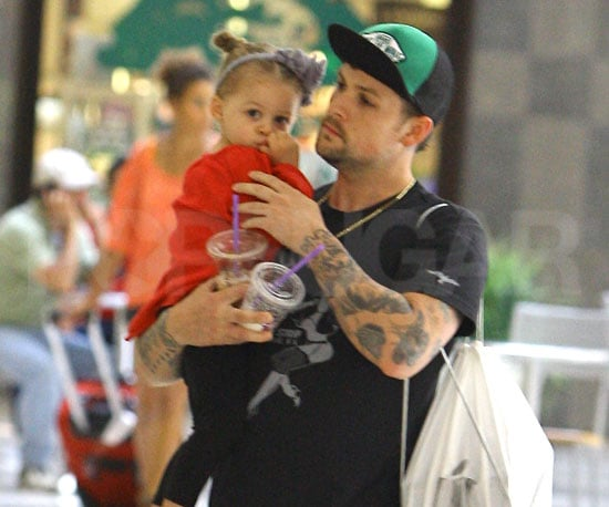 Slide Picture of Harlow and Joel Madden at the Mall in LA