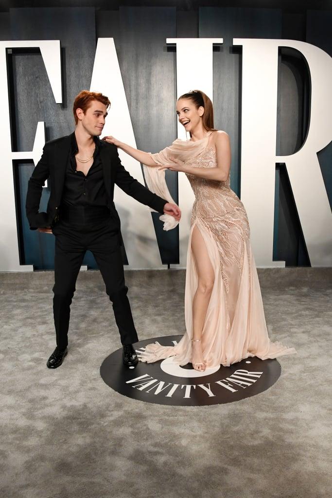 KJ Apa and Barbara Palvin at the Vanity Fair Oscars Party 2020