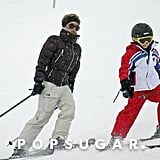 In April 2007, Victoria Beckham took an 8-year-old Brooklyn for some Spring skiing in Courchevel, France.