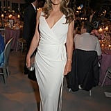 Elizabeth Hurley's Plunging White Dress