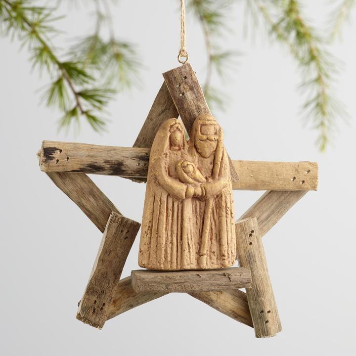 Driftwood Nativity Scene Ornament