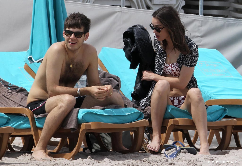 Keira Knightley and James Righton relaxed in the sun.