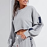 Tommy Hilfiger Exclusive Logo Tape Cropped Sweatshirt