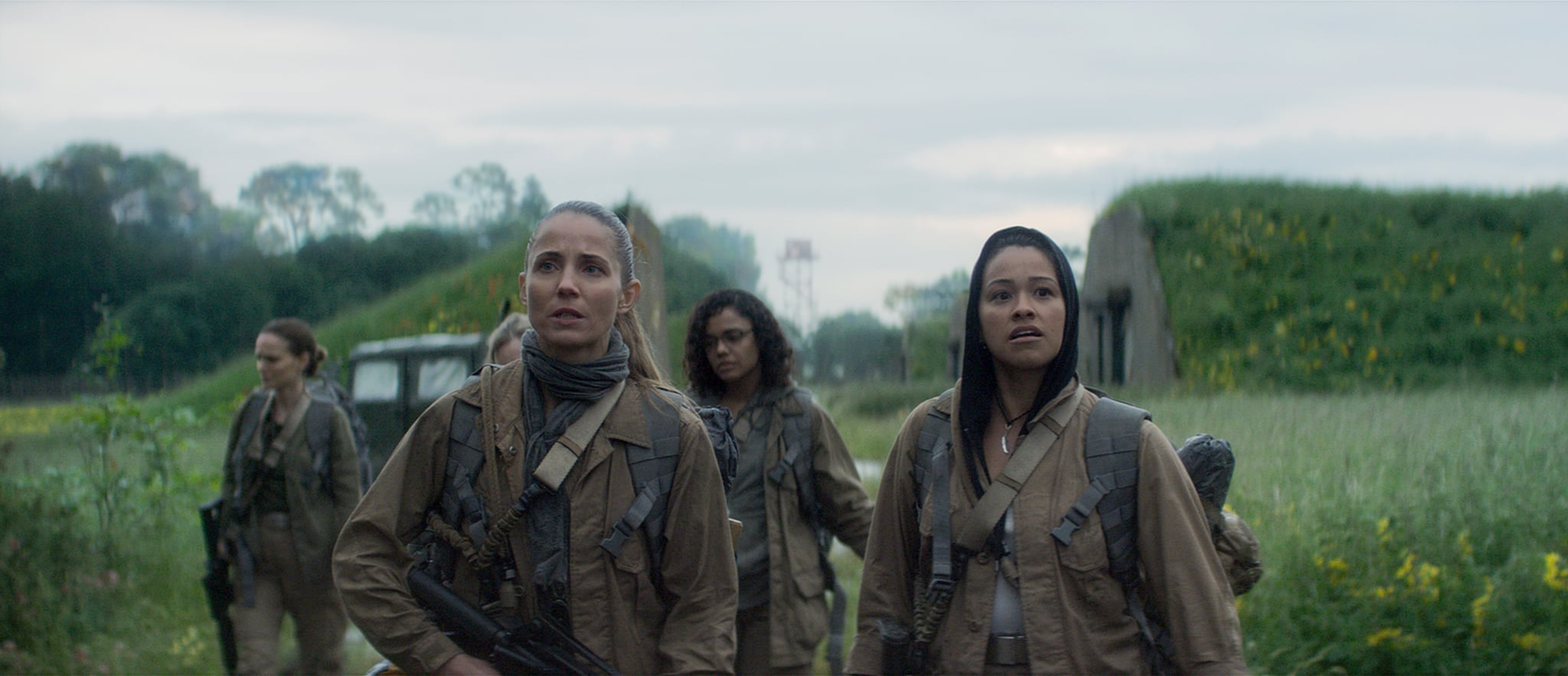 ANNIHILATION, from left: Natalie Portman, Tuva Novotny, Tessa Thompson, Gina Rodriguez,  2018.  Paramount Pictures /courtesy Everett Collection