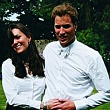 Kate Middleton and Prince William were photographed together at St. Andrews in June 2005.