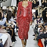 A Red Metallic Gown From the Michael Kors Collection Runway at New York Fashion Week
