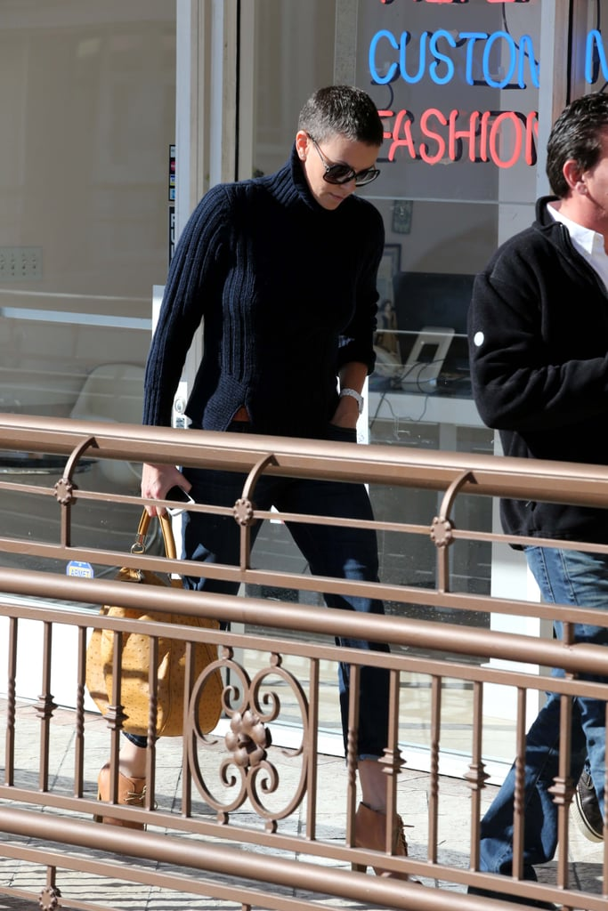 Charlize Theron went to lunch with friends.