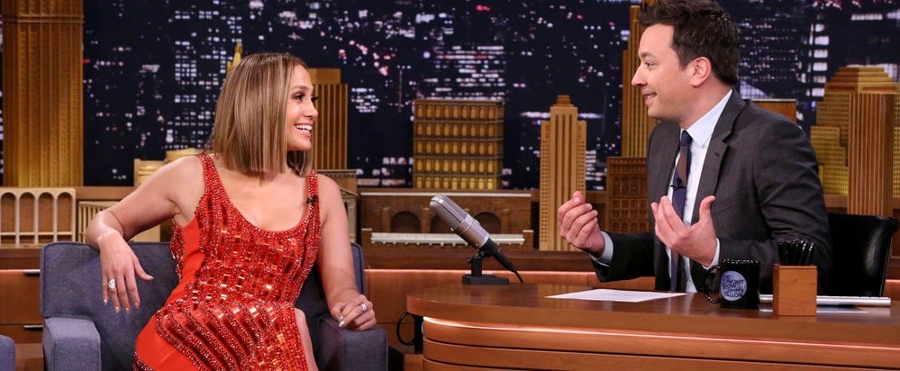 Jennifer Lopez Red David Koma Dress Jimmy Fallon May 2018