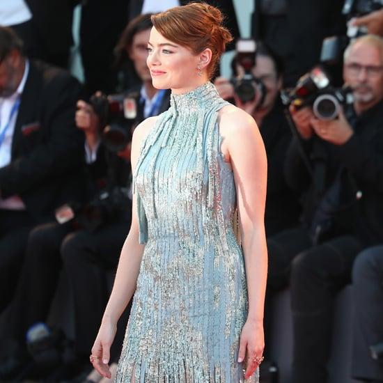 Emma Stone Versace Dress at Venice Film Festival 2016
