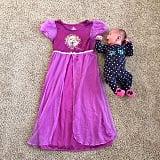 Baby vs. toddler pajamas.
