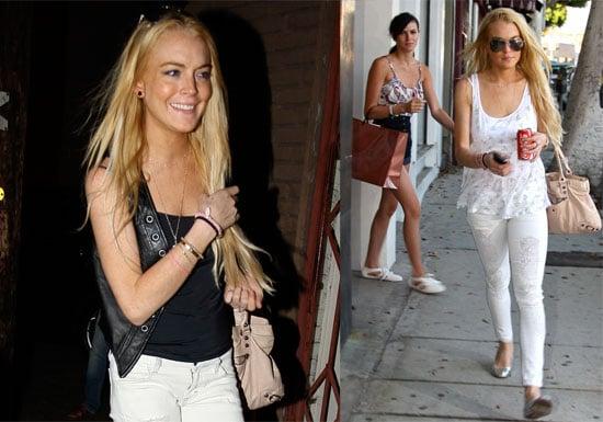 Photos of Lindsay Lohan and Ali Lohan Shopping in LA