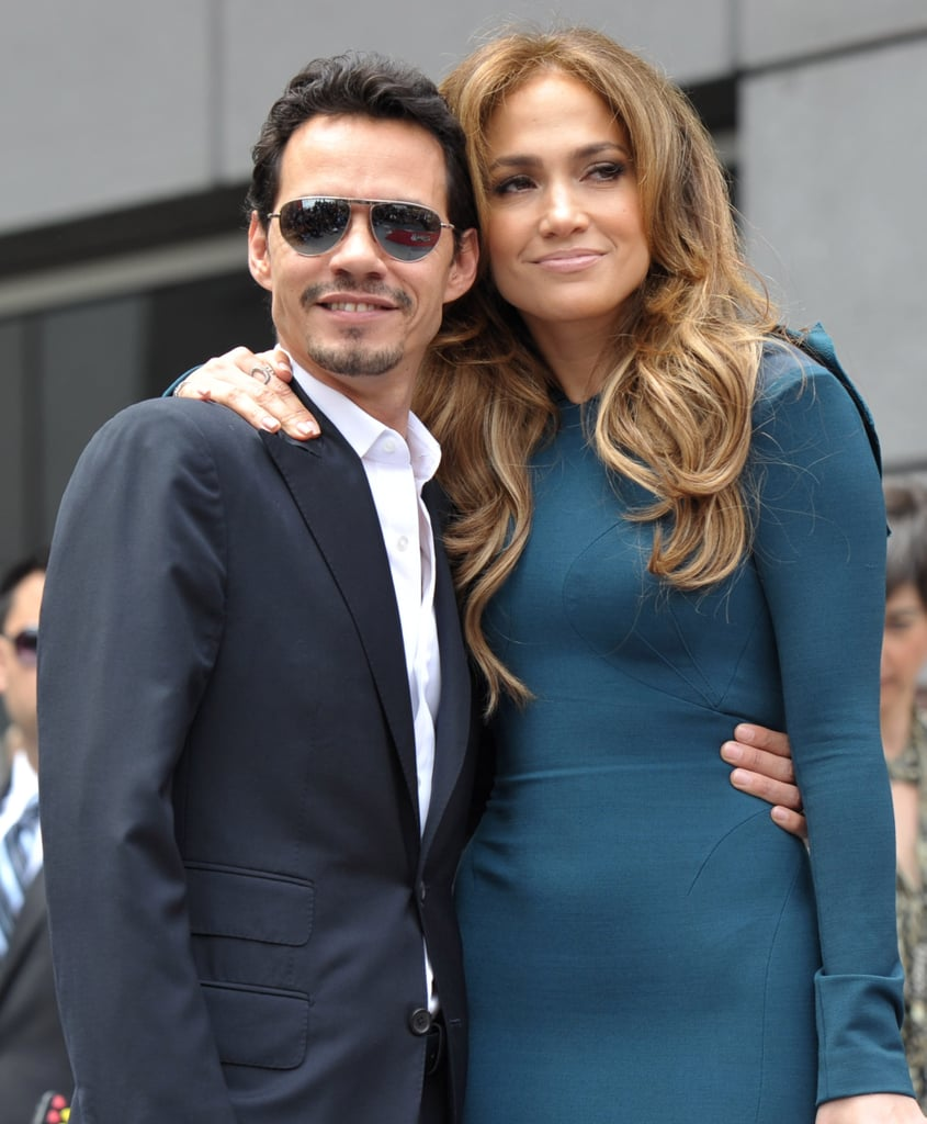 Pictures of Pregnant Victoria Beckham and Jennifer Lopez at Simon Fuller's Hollywood Walk of Fame Ceremony