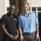 Harry and Sir Viv Richards