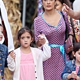 Salma Hayek went pumpkin hunting in LA on Saturday with her daughter, Valentina.