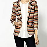 Style this multicolored blazer ($45, originally $89) with basics from your closet.